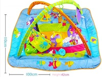 Free shipping Super Deluxe Lights and Music Gymini Activity Gym baby music play mat fitness rack game pad