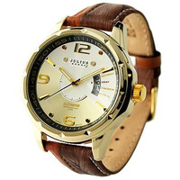 New Men's Quartz Watch Sport Fashion Clock Genuine Leather Strap Japan Movement Date Julius Brand Relojes Wholesale Dropshipping