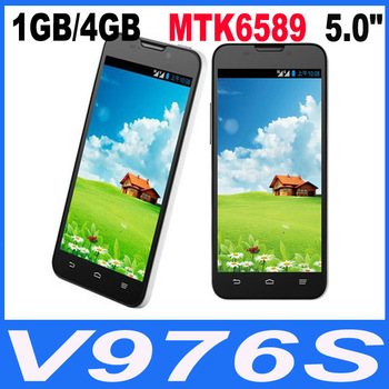 "multi language ZTE V967s Original 5.0"" Quad Core MTK6589 3G Smartphone 1GB /4GB Android 4.1 Dual Cameras IPS Dual Sim Cell Phone"