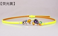 2013 Hot Korean version of the candy-colored Andy home luxury Bulgari diamond jewel belt(freeshipping)