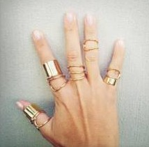 Recommend! 2013 fashion costume Jewelry new punk finger rings set nice gift for women girl ladie's wholesale Top quality R662