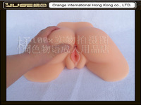 top quality real feeling full silicone ass, realistic sex doll for anal / vagina sex, 2 holes ass doll, sexy woman ass, JS-007