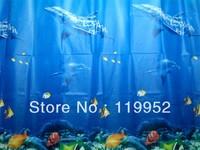 Blue Dolphin waterproof mildew shower curtain 180 * 180cm CPAM