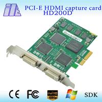 On sale High quality  PCI-E 2CH HDMI capture card  HD200D
