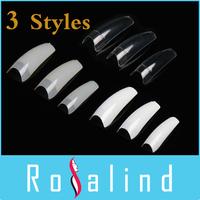 3 Styles False Nails FREE SHIPPING 500 Natural French Nail Tips False Acrylic Nail Art Tips Drop Shipping