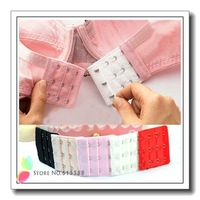 Wholesale 200Pcs/lot Intimates Accessories Bra Extenders 2hooks/3hooks/4hooks 5 Colors Strap Extension Free Shipping