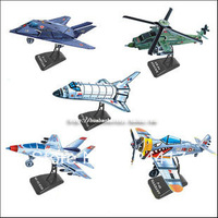 Child model of three-dimensional puzzle assembling model aircraft toy