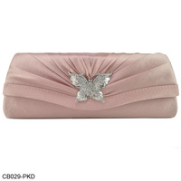 Free Shipping 2013 New Design! 6 Color  Wholesale And Retail Diamante Radian Pleated Design Party Bag Evening Bags CB029