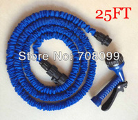 Free Shipping  Expandable 25FT Garden Hose With Sprayer Nozzle As seen On TV