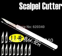 No.11 Scalpel Burin Maintenance Chisel Handle +20/PCS blade Application PCB Circuit board phone Membrane Sterile/Beauty/DIY