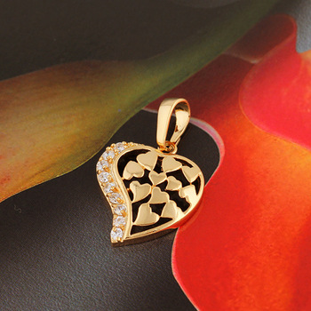 Valentine's day gift heart 18 k Gold Plated necklace pendant  fashion jewelry for woman