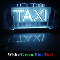Free shipping TAXI 96 LED Car Lamp Light Cab Sign Topper Roof Waterproof RED WHITE GREEN BLUE with car cigarette socket