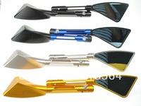"Free Shipping Folding Bar End Motorcycle Mirror Motorbike 7/8"" CNC Aluminum"