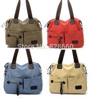 casual multifunctional canvas bag  nappy bag one shoulder cross-body multi-pocket bag