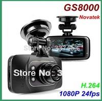 NTK+9712Wide Angle Lens Car dvr Camera Video Recorder GS8000L1080P FHD Night Vision Motion Detection,G-sensor,Free Shipping