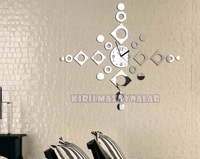 Free shipping 3d Best home decoration !mirror wall clock .Wall stickers birthday gift.DIY clock,Unique gift ! Z027