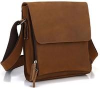 2014 new Crazy horse vintage genuine leather handmade casual vertical shoulder messenger bag  man bag LF06686
