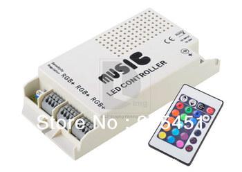 New DC 12V-24V Music Auto Sound Sensitive IR LED Infrared Controller For 5050 3528 RGB Strip Light 014655 Free Shipping