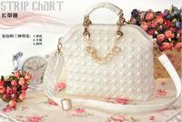 Free Shipping (1 pcs) 2013 Hot selling Luxury OL Lady Women Crocodile Pattern Pearl Handbag Tote Popular Leather Bag