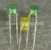 Good quality Yellow 2x3x4 DIP LED 2-pin square 3mm led diode color diffused 2.0-2.5V