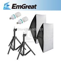 Lighting Photography Kit Studio Kit  Soft Box + 115W 220V 5500K E27 Fluorescent Light Buld + Mini Studio Light Stand 016277