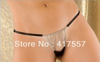 2013 New Most POP Style Free Shipping Black metal chain thong Woman Sexy Underwear
