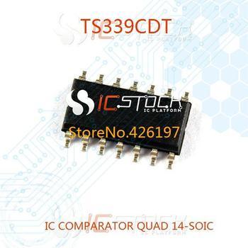 TS339CDT IC COMPARATOR QUAD 14-SOIC 339 TS339 30pcs