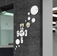 Min order 15 usd ( Mix items)The sun shape Mirror wall stickers clock fashion 2013 clocks fashion personalized gifts