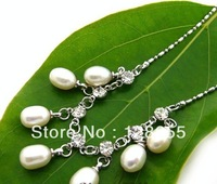 Fashion natural freshwater pearl necklace pearl necklace Pearl Necklace Classic    Free Shipping
