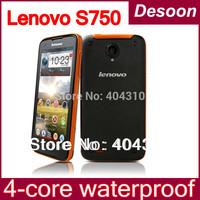 Free shipping Original Lenovo S750 Phone MTK6589 Quad core1.2GHz Android 4.21G RAM+4G ROM 8.0MP 4.5''QHD 960*540 screen/ Koccis