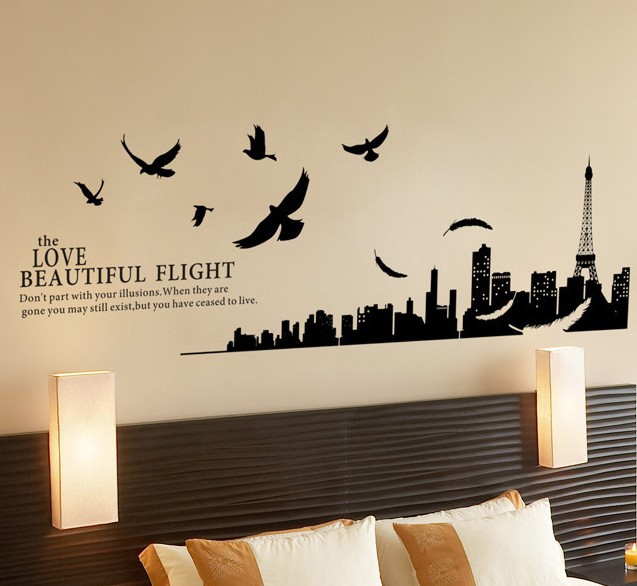 Alfa img Showing Paris Wall Stickers for Bedrooms