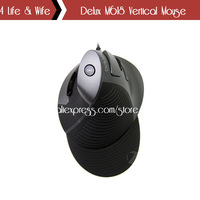 Dedicated Packaged 2400DPI Delux M618 Wired Swiftpoint Mouse Prevent Hand Fatigue Hongkong Post Free