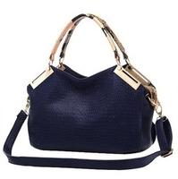 Big promotion women leather handbags, high-grade PU leather handbag, new crocodile pattern retro shoulder messenger bag