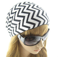 White & Black Striped Women's Hair Accessory The Wide  Headband For Girl