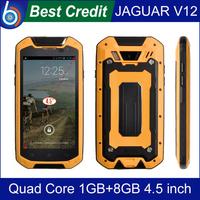 Free shipping JAGUAR V12 Waterproof Mobile phone MTK6589T 1GB 8GB 4.5 inch Android 4.2.2 ip68 Dustproof shockproof 2500MAh/Kate