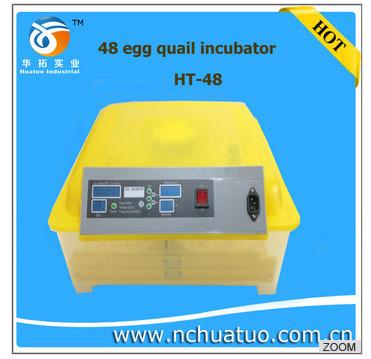 Il ce ha approvato 2013 pieno automatico ad alta da cova mini uovo incubatore di pollo/anatra/d'oca/ht-48 uccello