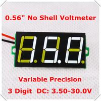 "0.56"" Variable Precision Digital Voltmeter DC3.50-30.0V no shell Voltage Panel Meter LED Color: white [ 50pcs / lot]"