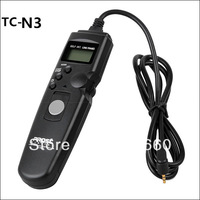 "1.2 "" LCD Screen And 85 cm Cord TC-N3 Timer Remote Cord Shutter Release for Nikon D7000 D5100 D3100 D5000 D90"