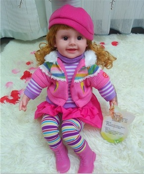 Simulation baby talking doll toys toy girl