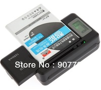 Universal LCD Mobile Cell Phone Battery Wall Travel Charger with USB Port
