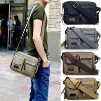 Men Small Casual Sac Vintage Shoulder Bolsos School Messenger-Bag Messenger Bolsa Crossbody Hombre For Masculina Canvas Bag S232