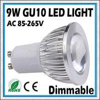 5PCS-High Power Dimmable GU10 / E27 /MR16 9W 12W 15W  COB LED Spotlight Lamp CREE LED Light Bulb Downlight Free Shipping