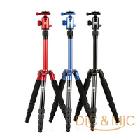 Sirui T-005 Folding Portable Camera Tripod / C10 Panorama Ball Head / Touring Colorful Tripod / Photography Equipment Wholesale