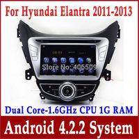 Android 4.2 Car DVD Player for Hyundai Elantra Avante I35 2011-2013 with GPS Nav Radio TV BT USB AUX DVR 3G WIFI 1.6G CPU+1G RAM