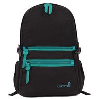 "Solid color school bag Unisex backpack canvas 14"" laptop back mochilas"