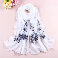 Spring and autumn scarf long design women's silk scarf chiffon silk scarf female scarf all-match cape