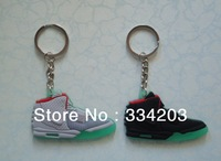 Free shipping Shoes Keychain,Yeezy Sneaker Key Ring, 6 pcs/1set with Retail/Gift Boxes