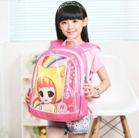 Trolley bags Girl large capacity primary school students school bag boys double-shoulder child school bag burdens waterproof