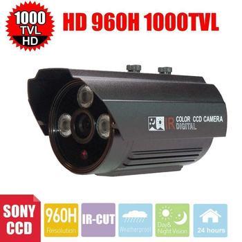 Vanxse CCTV 1000TVL 1/3 Sony CCD High line Array IR LED Security camera 3.6mm Surveillance outdoor waterproof Camera