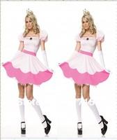 Sleeping Beauty Dress Halloween Women Costumes for Adult Princess Peach Costume